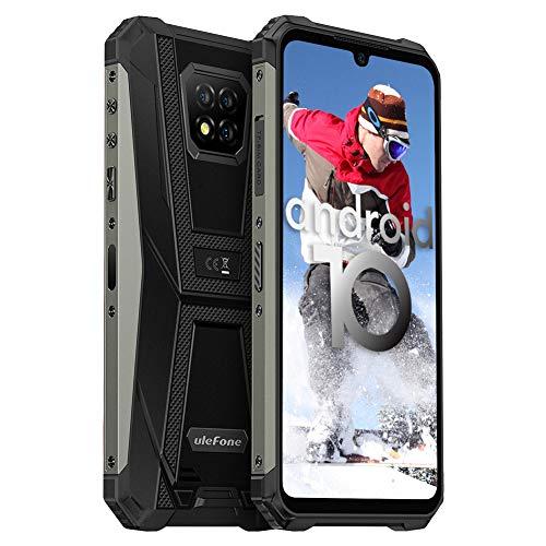 Telephone Portable Débloqué, 64Go + 4Go, 5580mAh, Android 10 Telephone, Helio P60 Octa-Core, 16MP Caméras Arrière Triple, FHD 6,1 Pouces, Ulefone Armor 8, Smartphone Incassable 4G, NFC Type-C