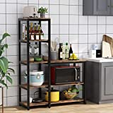 Tribesigns 5-Tier Kitchen Bakers Rack with Utility Storage Shelf, Freestanding Microwave Oven Stand Kitchen Spice Rack Shelf Organizer(Vintage Brown)