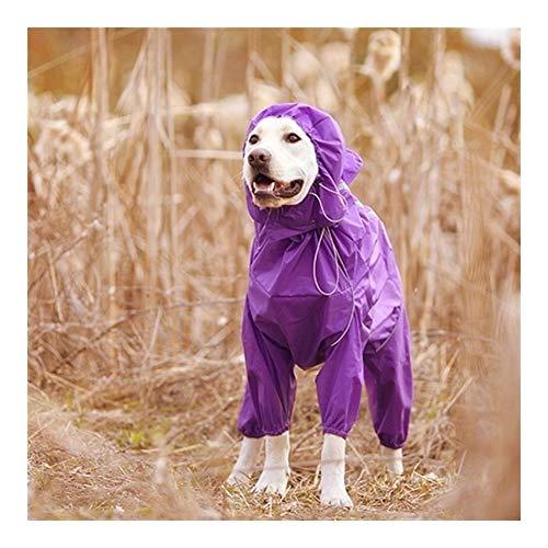 HNZZ Chubasquero para Perros Impermeable for Perros y Mascotas Ropa Impermeable Reflectante Cuello Alto Mono con Capucha for pequeños Perros Grandes Capa de Lluvia Golden Retriever Labrador