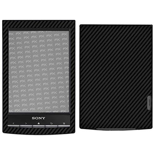 atFolix Skin kompatibel mit Sony PRS-T1 Reader, Designfolie Sticker (FX-Carbon-Black), Carbon-Struktur/Carbon-Folie