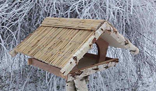 Vogelfutterhaus mit Reetdach,Ferienhaus groß mit Reetfirst