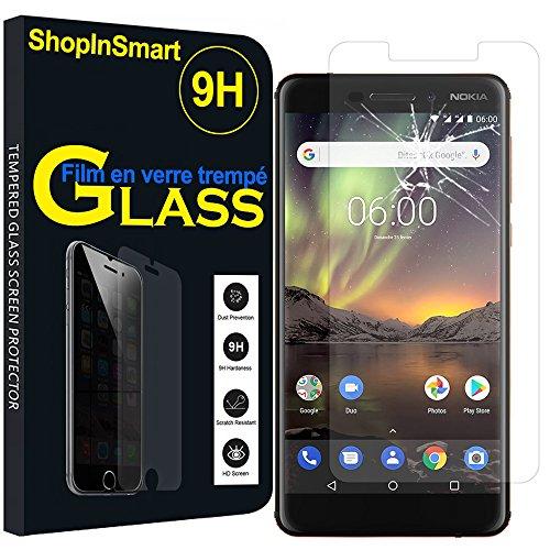 ShopInSmart Hochwertige gehärtete Panzerglasfolie für Nokia 6 (2018)/Nokia 6.1 5.5