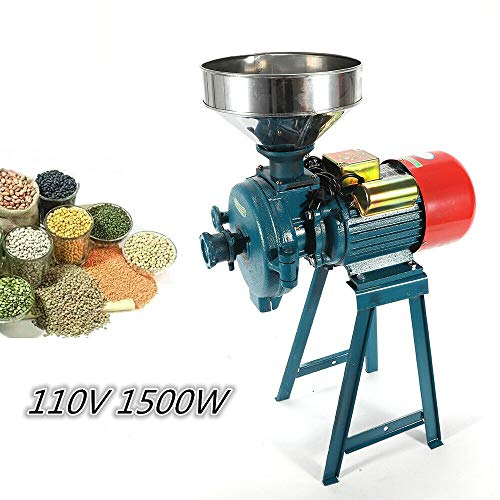 Electric Mill Wet Dry Cereals Grinder 110V 1500W Rice Corn Grain Coffee Wheat Feed Flour Grinding Miller Milling Machine with Funnel -  HYYKJ-US