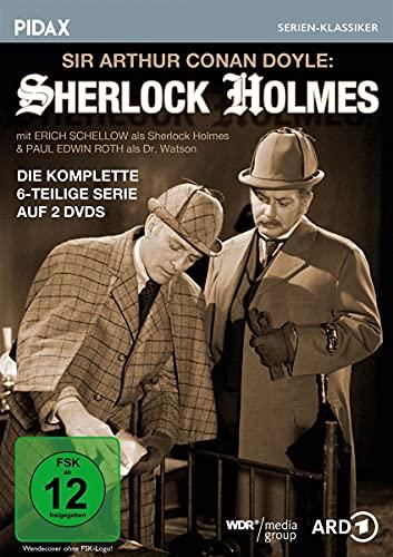 Sir Arthur Conan Doyle: Sherlock Holmes / Die komplette 6-teilige Krimiserie (Pidax Serien-Klassiker) [2 DVDs]
