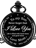 Hicarer Pocket Watch - to My Son Gifts - Mom to Son...