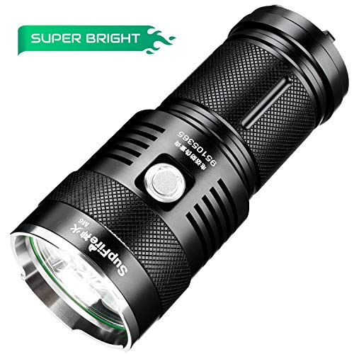 Supfire Linterna LED Tactica Impermeable Faroles de Mano Super Brillante 2300...