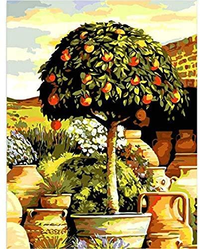 Houten puzzel speelgoed,Educatief speelgoed stressverlichter Volwassen klassieke 3D-puzzel Bloempotten Kleine bomen in de tuin DIY Moderne kunst Woondecoratie Uniek -500_stukken