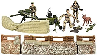 Click N' Play Military Trench Defense Unit Play Set, 25-Pieces Toy