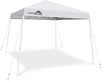 Eagle Peak 10' x 10' Slant Leg Pop-up Instant Outdoor Canopy Tent
