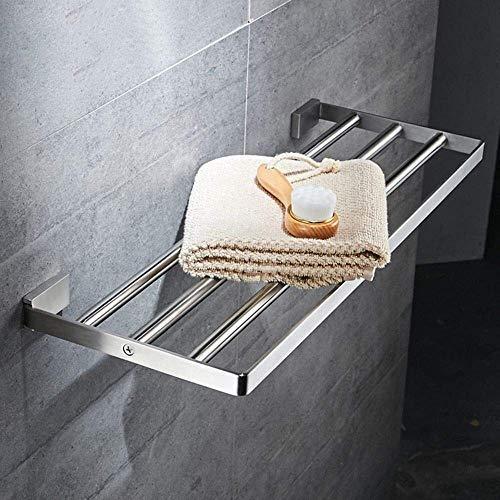 Handdoekhouder Handdoekhouder RVS Handdoek Warmer Vierkante Handdoek Warmer Handdoek Warmer Badkamer Accessoires (Maat: 40cm) 40cm