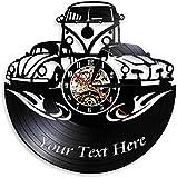 Reloj de Pared para decoración del hogar, Logotipo Personalizado, personalice su Nombre, Reloj de...