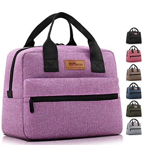 HOMESPON Insulated Lunch Bag Lunch Box Cooler Tote Box Cooler Bag Lunch Container for Women/Men/Work/Picnic,Large purple