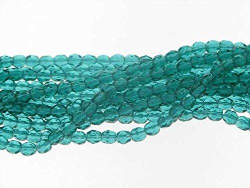 Creative-Beads band geslepen kralen 4 mm donkergroen ca. 600st, kunsthandwerk, knutselen, decoratie, sieraden zelf maken