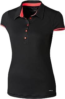 Cutter & Buck Women's Moisture Wicking, UPF 50+, Cap-Sleeve Brighton Polo Shirt, black, XS