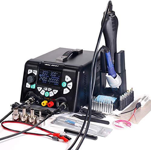 Yihua 853D 5A-II 4-in-1 Heißluft-Lötstation und DC Netzteil, 30 V 5 A mit 5 V 2 A USB-Ladeanschluss, mehrere Funktionen
