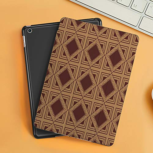 Case for iPad Air 10.2(2019/2018),Classical Vintage Old Fashioned Interior Celtic Floor Tiling Pattern,Cover with Auto Sleep Wake Feature, Slim Lightweight Stand Protective Case