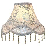 Eastlion Retro Palace Pendant Light Shade Handmade Pendant UNO Table Lamps,Floor Lamps,Wall Lamps lampshade,Silver Rose 15x30x21cm