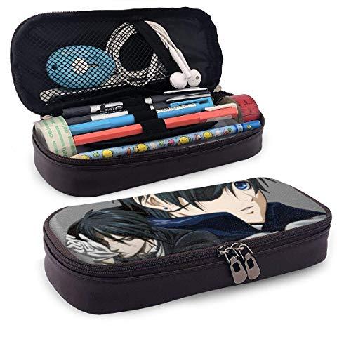 Black Butler Leather Pencil Pen Case, große Aufbewahrung PU Pen Pencil Robustes Briefpapier Box Pencil Pouch für Studenten
