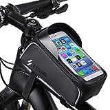 Borsa Bicicletta Telaio - Borsa Manubrio MTB Impermeabile con Striscia Riflettente Sensitive Touch...