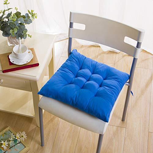 6 cuscini quadrati per sedia con cravatte, in cotone, spessi cuscini per sedia da pranzo, per interni ed esterni, giardino, ufficio, soggiorno, 40 x 40 cm