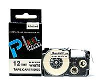 カシオ ネームランド用 互換 テープカートリッジ 12mm XR-12WE 白地黒文字