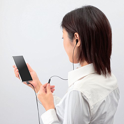 ELECOM『スマートフォン/フィーチャーフォン用モノラルヘッドホンマイク(EHP-MM100MBK)』