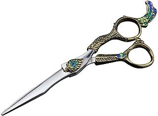 Professional Barber 6 Inch Hair Stylist Special, Flat Scissor Teeth Scissor Professional Authentic Tools Set Scissors (Col...