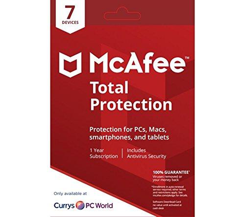 McAfee Total Protection   Edition 2018 von der Herstellerseite   7 Geräte   1 Jahr   mit den neusten Updates FFP(Frustfreie Verpackung)