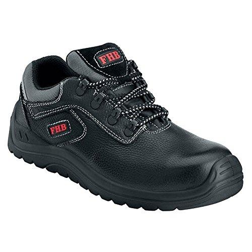 FHB Sicherheitsschuhe Halbschuhe S3 839 63, Farbe:schwarz;Schuhgröße:43 (UK 8.5)