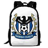 ガンバ大阪 人気 新品 全幅プリントバックパック 大容量 外出カバン 収納バッグ 軽量 携帯する フィットネスバックパック スポーツバッグ 男女兼用 通勤 外出 学校に通う バックパック
