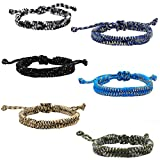 FROG SAC 6 PCS Paracord Friendship Bracelets for Boys, Parachute Cord Survival Friendship Bracelet Set, Birthday Party Favors, Goodie Bag Fillers, Teacher Treasure Box Rewards Prizes for Students