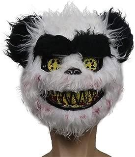 MYASOB Costume Masks Bloody Plush Panda Head Mask Panda Head Mask Halloween Halloween Head Mask Headgear Helmet Head Mask Face Personality (Color : Black)