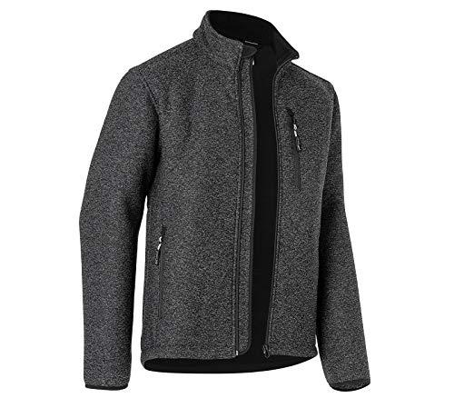 KÜBLER Workwear KÜBLER Weather Fleecejacke grau, Größe 4XL, Unisex-Fleecejacke aus Mischgewebe, Funktionelle Fleecejacke