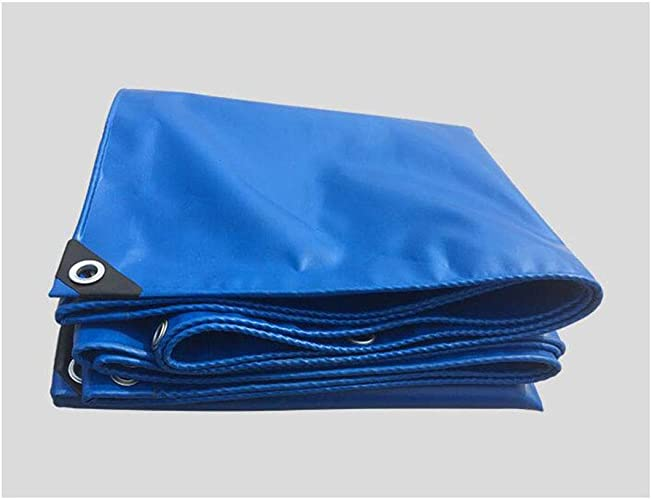 Yuke Bache de Camping imperméable Bleue avec Oeillets pour Couvrir Les parterres de Fleurs (Taille   5x6m)