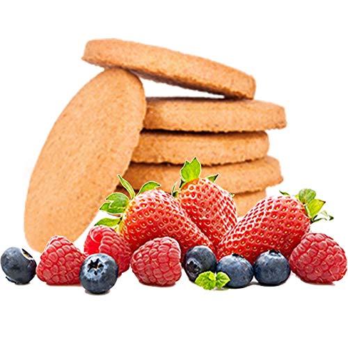 GALLETAS PROTEICAS Line@diet | 7x5 galletas sabor a FRUTAS ROJAS | 30% de PROTEIN | Fit Snack 7 FRUTAS ROJAS