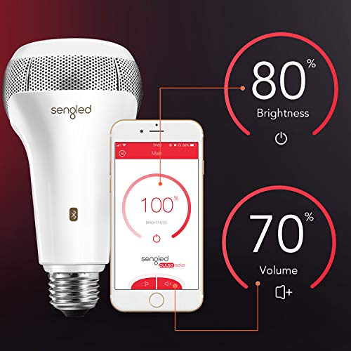 Sengled Solo Bluetooth JBL Speaker Light Bulb Dual Channel Dimmable LED Light Bulb App Controlled 60W Equivalent E26 Smart Timing Music Bulb, Compatible with Alexa via Bluetooth Connection