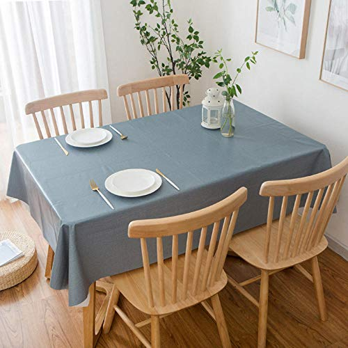 GTWOZNB fácil de Limpiar, para jardín, Habitaciones, decoración de Mesa, PVC de Color Puro a Prueba de Agua y Aceite-Armada_Los 90 * 90cm