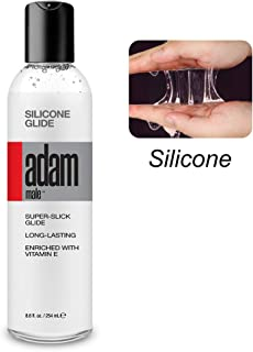 Silicone Based Personal Lubricant-8.6 fl.oz, Waterproof Silicone Glide enriched with Vitamin E for Men, Women and Couples, Paraben & Glycerin Free-Made in USA
