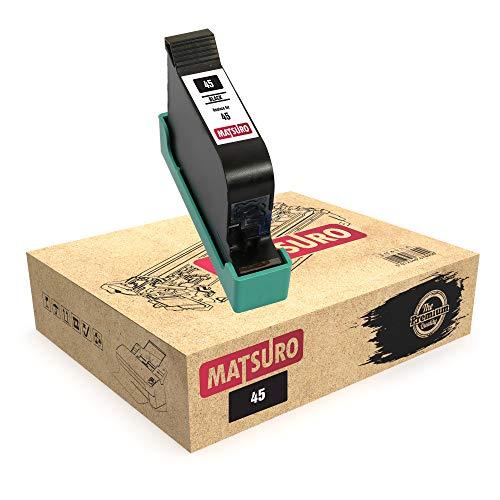 Matsuro Original | Kompatibel Remanufactured Tintenpatrone Ersatz für HP 45 (1 SCHWARZ)