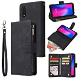 LBYZCASE Phone Case for ZTE Blade A3 2020,ZTE Avid 579 Wallet Case,Folio Flip Leather Cover[Zipper Pocket][Wrist Strap][Kickstand ] for ZTE Avid 579/Blade A3 2020 (Black)