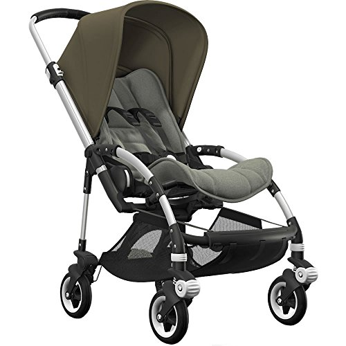 Great Deal! Bugaboo Bee5 Complete Stroller with Aluminum Frame with Green Melange Seat and Olive Gre...