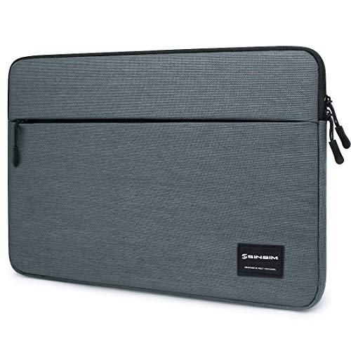 SINSIM 15,6 Zoll Laptop Tasche Schutz Hülle für Lenovo Ideapad 330 ThinkPad L590 / E595 / P53 / HP ProBook 650 G4 / Acer Chromebook Spin 15 / Dell Latitude 5590 Latitude 15 Dunkelgrau