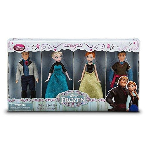 Disney Frozen - La reine des neiges Mini Poupée - Kristoff, Anna, Elsa, Hans