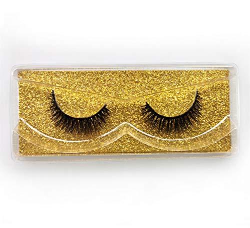 XUNUO Natural 3D eyelashes 8-14 mm fake eyelashes for daily makeup, reusable fluffy false eyelashes (Color : W 03)