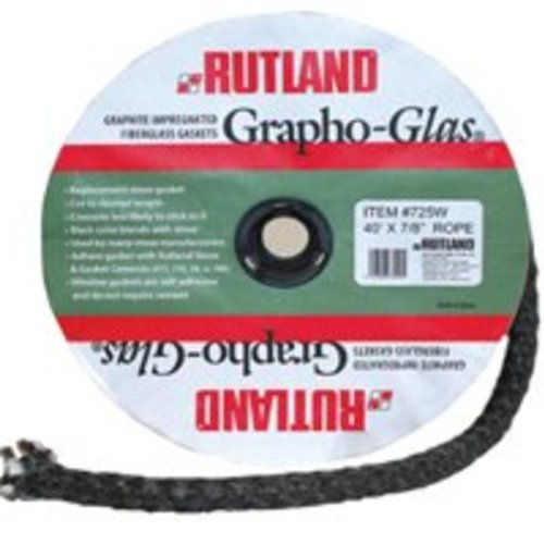 3//4 by 84-Inch Rutland Grapho-Glas Woodstove Gasket Rope