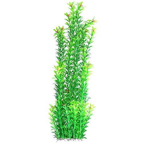JDYW Planta Acuática Artificial Plantas de pecera Grande Plantas de plastico con Flores Decoración del Acuario 20.5 Pulgadas / 52 cm