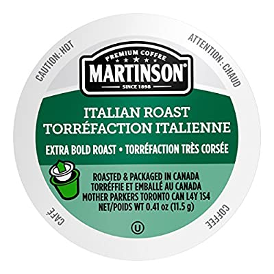 Martinson Single Serve Coffee Capsules, Italian Roast, Compatible with Keurig K-Cup Brewers, 24 Count