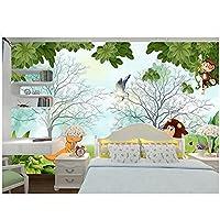 カスタム写真の壁紙壁の3d壁画壁紙3dヨーロッパのミニマリストの森の動物の世界漫画の部屋の背景の壁