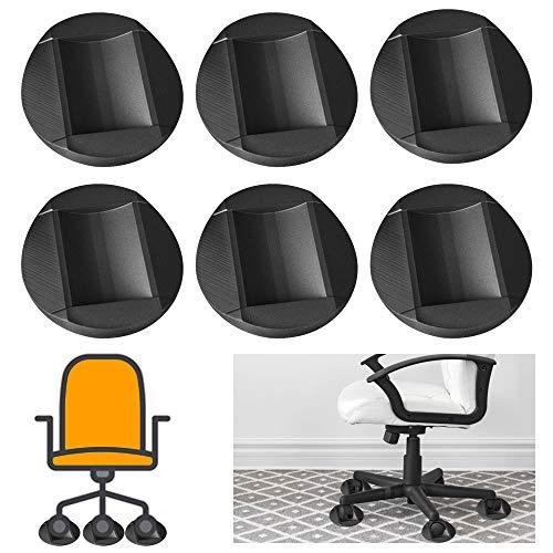 Möbeluntersetzer, 6 Stück, rutschfeste Gummifüße, Möbeluntersetzer, Stuhlbeine, Bodenschoner, für Möbel, Sofas und Betten
