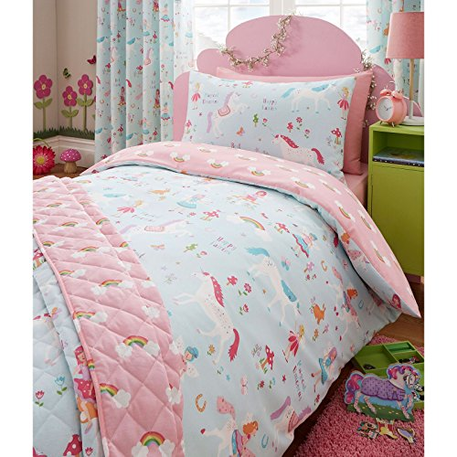 Harwood Textiles Magical Unicorn UK Junior/Toddler Duvet Cover and Pillowcase Set